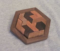 Wooden Brain Teaser Puzzle by GrandpaNickToys on Etsy, $20.00