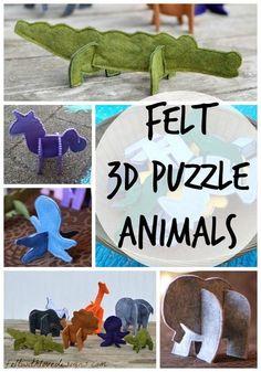 Felt 3D Puzzle Animals {Felt With Love Designs}