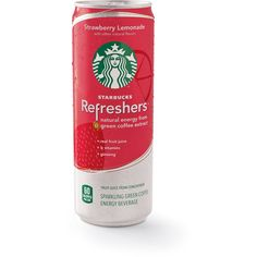 Ready-to-drink Starbucks Refreshers™: Strawberry Lemonade ❤ liked on Polyvore