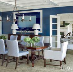 Blue Contemporary Dining Room