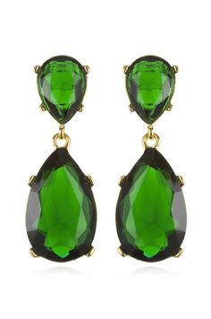 These crystal drop earrings by Kenneth Jay Lane are classic yet fun. I love their emerald hue.