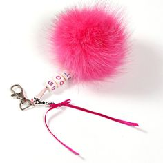 Fox pom pom have been very trendy lately. This pendant is made from the fur of white fox, which we painted with crazy pink. You can choose what text you want - max 8 letter. Gifts For Golfers, Golf Gifts, Ladies Golf, Different Colors, Fox, Hair Accessories, Country, Pendant, Unique Jewelry