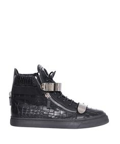 GIUSEPPE ZANOTTI Leather High-Top Sneakers With Coconut Print. #giuseppezanotti #shoes #sneakers