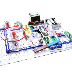 Snap Circuits Toys-The kit reinforces STEM concepts with fun and creative activities.  Young electronic engineers welcome the award winning Snap Circuits product line, Snap Circuits STEM Electronic Projects Kit! Elenco's Snap Circuits system uses building pieces with snaps to assemble different electronic circuits on a simple rows-and-columns base grid that functions like the printed circuit boar   #SnapCircuitsToys