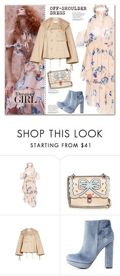 """Off-shoulder dress"" by anne-irene ❤ liked on Polyvore featuring Ulla Johnson, Fendi, See by Chloé and Charlotte Russe"