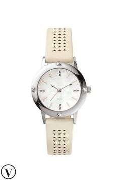 Stella & Dot Icon convertible watch with rose and silver face