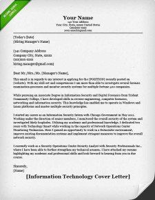 Information Technology Cover Letter Example | Cover letter ...