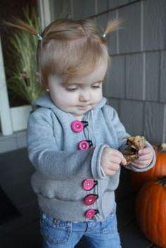 DIY Clothes Refashion: DIY toddler sweatshirt