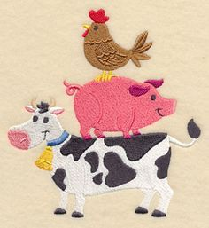 Farm Friends Stack design (M4964) from www.Emblibrary.com