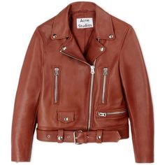 Acne Studios Leather Outerwear (9.920 DKK) ❤ liked on Polyvore featuring outerwear, jackets, coats & jackets, brown and acne studios