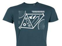 Bicycle Parts / petrol / Bio-Fair Wear T-Shirt