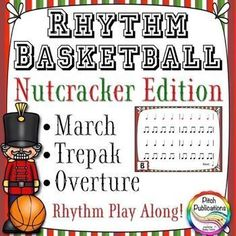 This is a great rhythm playalong for songs from The Nutcracker.  Kids are going to go nuts over this!  #elmused #nutcracker #pitchpublications #tptmusic #musictpt #tptmusictribe