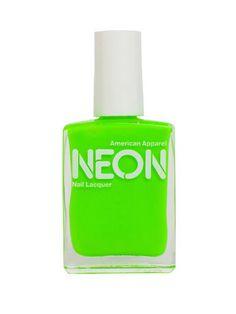 Neon nail polish in neon green $6