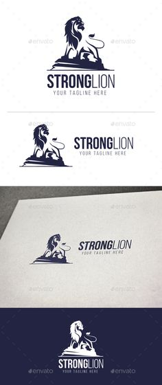 Strong #Lion - Animals #Logo Templates Download here: https://graphicriver.net/item/strong-lion/19743920?ref=alena994