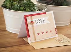 Keks made: handmade wedding card