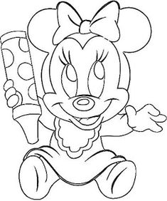 Cartoon Sketches, Disney Sketches, Disney Drawings, Cute Coloring Pages, Disney Coloring Pages, Coloring Books, Winnie The Pooh Drawing, Mickey Mouse Drawings, Minnie Mouse