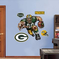 Fathead Green Bay Packers Pumped Packer Graphic - Wall Sticker Outlet