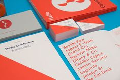 Studio Constantine: Stationery and Promotional Materials | great use of 2-color limitations | designworklife