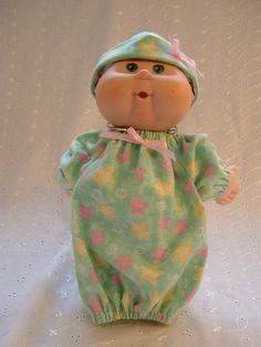 Cabbage Patch Newborn Doll Clothes  Sleeper by JustDollClothes. , via Etsy.