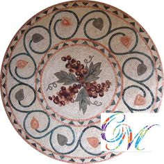 MD076 Marble Mosaic Medallion Tile