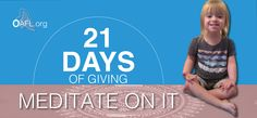 We know #GIVING requires planning. GOOD NEWS, You have #21Days2Give. Please give it some serious thought. #OAFLORG