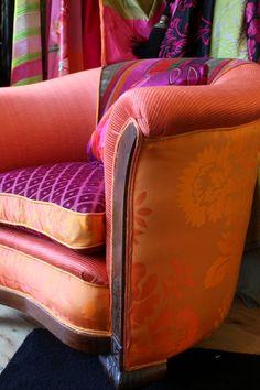 Art Deco carved arm Vintage Chair