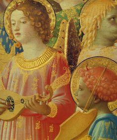 BEATO ANGELICO - Incoronazione della Vergine (particolare) - tempera su tavola - 1434-1435 - Musée du Louvre, Parigi, Francia