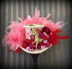 Kentucky Derby Hat Kentucky Derby Fascinator Red and by ChikiBird
