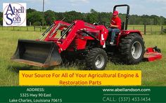 Get High Quality Farming Equipments and needs  Welcome to Abell & Son, Inc.  We are Specializing in the Agricultural industry we have branched out to serve the light construction, hobby farmer and consumer. For more info call: (337) 433-1434 Visit: http://abellandson.com/