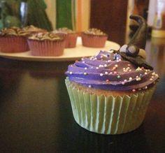 Cupcakes de Violeta para Halloween