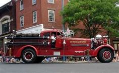 classic fire trucks. I love the roadster/hot rod look of this truck.