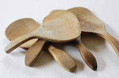 Antique Wood Butter Paddles