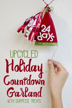 Don't let those empty rolls go to waste! Turn them into an adorable countdown garland for the holidays! #HolidayMoments @costco  [ad]