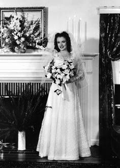 Marilyn Monroe's Wedding Dresses: Marilyn's 1st Marriage to Jim Dougherty on the 19th June 1942. Norma Jeane was just 16.