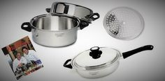 #2 Roast and Broil Set 5 pc Greaseless Cookware Set Made in USA