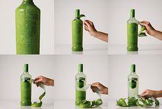 Smirnoff Caipiroska Peelable Bottle by JWT