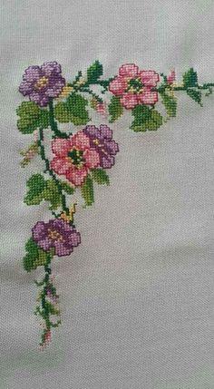 The most beautiful cross-stitch pattern - Knitting, Crochet Love Cross Stitch Letters, Cross Stitch Art, Cross Stitch Borders, Cross Stitch Samplers, Modern Cross Stitch, Cross Stitch Flowers, Cross Stitch Designs, Cross Stitching, Cross Stitch Embroidery