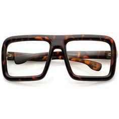2eac8b631385bb Oversize Bold Thick Frame Clear Lens Square Eyeglasses 58mm - Matte  Tortoise   Clear Lens Brilmonturen
