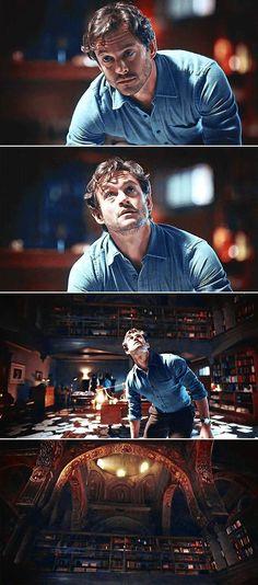 "Hannibal ""Primavera"" - Will Graham in Hannibal's studio Hannibal Tv Series, Nbc Hannibal, Hannibal Lecter, Sir Anthony Hopkins, Francis Dolarhyde, Will Graham, Complicated Relationship, Hugh Dancy, Mads Mikkelsen"