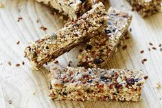 Seeded slice recipe, Bite – Linseeds also known as flaxseeds are the richest plant source of omega 3 fats which are essential for a healthy brain heart joints and immune system Makes 2025 bars - Eat Well (formerly Bite) Lunch Box Recipes, Raw Food Recipes, Cooking Recipes, Free Recipes, Health Recipes, Lunch Ideas, Snack Recipes, Healthy Sweet Treats, Healthy Desserts