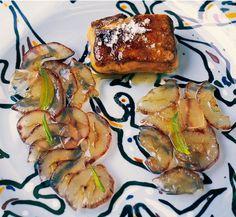 306 |   foie-gras caliente de pato con uvas al eucalipto (El Bulli, 1995, tapa)