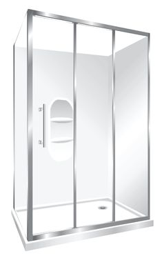 Features one piece acrylic lining with moulded shelf , Low profile tray with 40mm upstand Tray is Centre Waste as standard but also available in Corner Waste. 1950mm high glass 6mm safety glass, Stacker Door Reversible – can open left to right or right to left Stacker Door is available in a Silva finish Internal slider (no door swing out means no water on the floor and water drains back into the shower)