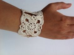 #crochet #flower #bracelet @ https://www.etsy.com/listing/194241101/crochet-flower-bracelet