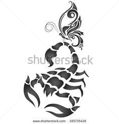 Стоковые вектора и векторный клип-арт Scorpion | Shutterstock Body Art Tattoos, Tribal Tattoos, Scorpio Art, Tattoo Project, Kirigami, Clipart, Adult Coloring, Zodiac Signs, Illustration