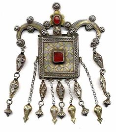 Incredible structure to this amulet, silver with carnelian. Turkoman mid 19th c (archives sold Singkiang)