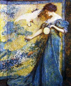 Robert Lewis Reid - The Mirror (1910)