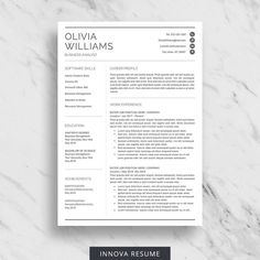 Creative Resume Template for Word, Resume with Initials, CV Template for Word, 2 Page Resume with Logo, Modern Resume with Cover Letter Nursing Resume Template, Modern Resume Template, Resume Template Free, Creative Resume Templates, Templates Free, Free Resume, Blogger Templates, Medical Assistant Resume, Student Resume