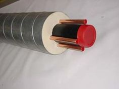 Vorisolierte PE Rohre in Spiromantel mit Kupfertracern
