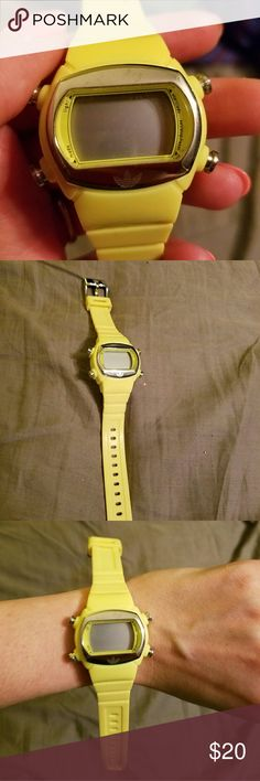 Adidas watch Adidas watch. Rubber like. Yellow. Never wore. Needs a new battery. Adidas Accessories Watches