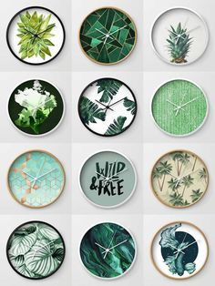 Society6 Green Clocks - Society6 is home to hundreds of thousands of artists from around the globe, uploading and selling their original works as 30+ premium consumer goods from Art Prints to Throw Blankets. They create, we produce and fulfill, and every purchase pays an artist.